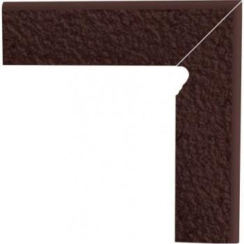 Natural Brown cokół schodowy dwuelementowy strukturalny prawy Duro 30x8,1x1,1