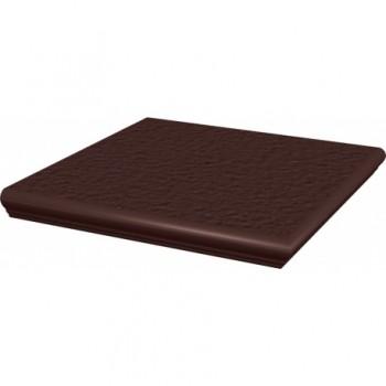 Natural Brown stopnica narożna z kapinosem strukturalna Duro 33x33x1,1