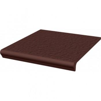 Natural Brown stopnica prosta z kapinosem strukturalna Duro 30x33x1,1