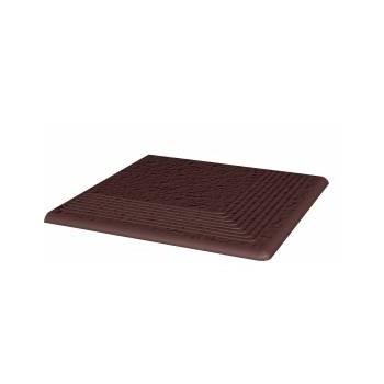 Natural Brown stopnica ryflowana narożna strukturalna Duro 30x30x1,1