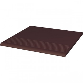Natural Brown stopnica ryflowana prosta gładka 30x30x1,1