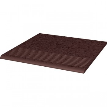 Natural Brown stopnica ryflowana prosta strukturalna Duro 30x30x1,1