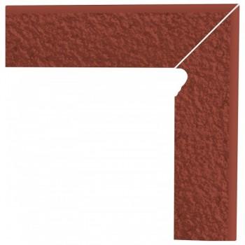 Natural Rosa cokół schodowy dwuelementowy strukturalny prawy Duro 30x8,1x1,1
