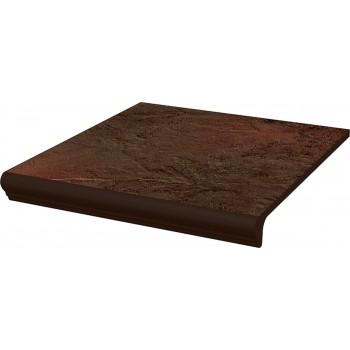 SEMIR Brown stopnica z kapinosem prosta 30x33