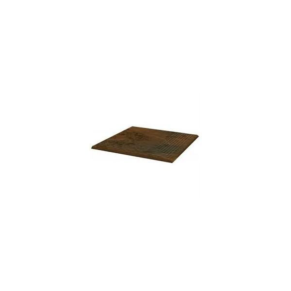 SEMIR Beige stopnica ryflowana narożna 30x30