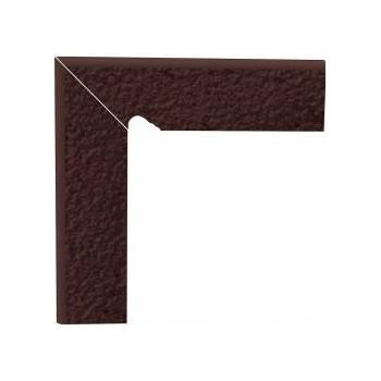 Natural Brown cokół schodowy dwuelementowy strukturalny lewy Duro 30x8,1x1,1
