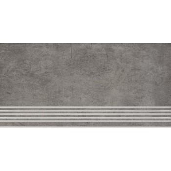 Taranto Grys stopnica nacinana 29,8x59,8