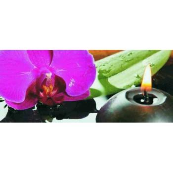 Dekor szklany Orchidea 25x60