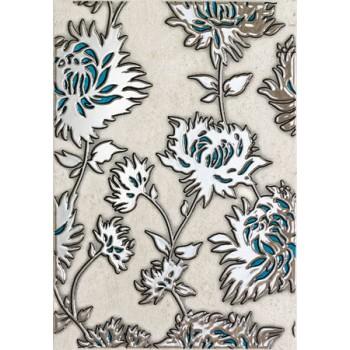 D-Gris flower turkus 25x36