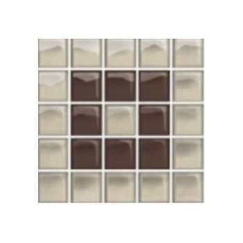 Glass Beige/Brown Mosaic B 14,8x14,8