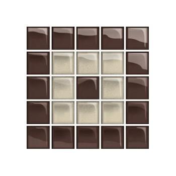 Glass Beige/Brown Mosaic C New 14,8x14,8