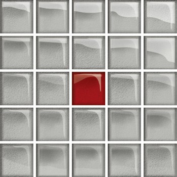 Glass Azure/Dark Beige Mosaic A New 14,8x14,8