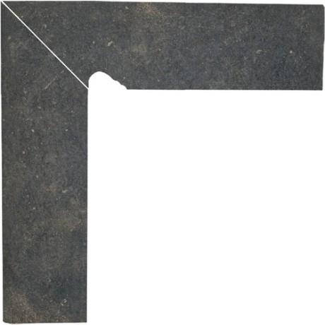 Cokół schodowy dwuelementowy Scandiano Brown Lewy 30x30