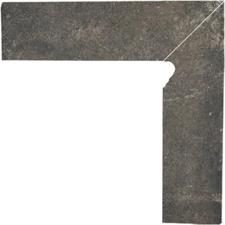 Cokół schodowy dwuelementowy Scandiano Brown Prawy 30x30