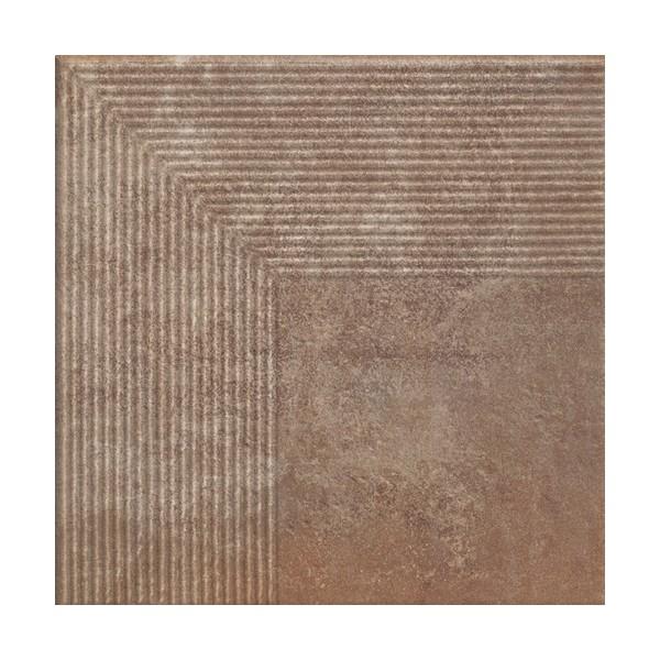 Stopnica narożna Scandiano Rosso 30x30