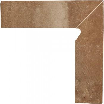 Cokół schodowy dwuelementowy Scandiano Rosso Prawy 30x30