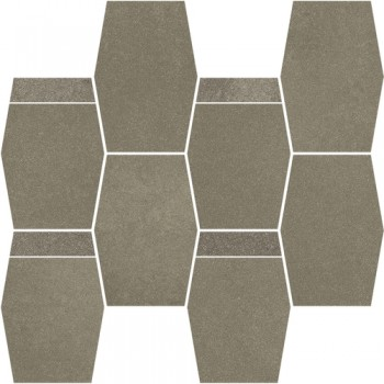 Naturstone Antracite mozaika cięta hexagon mix 28,6x23,3