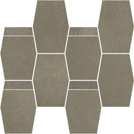 Naturstone Antracite mozaika cięta hexagon mix 28,6x23,3 GAT.I