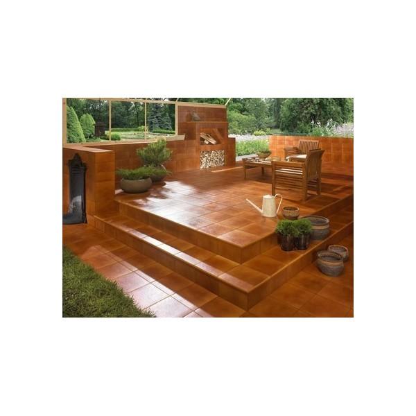 Aquarius Brown Stopnica narożna z kapinosem 33x33x1,1