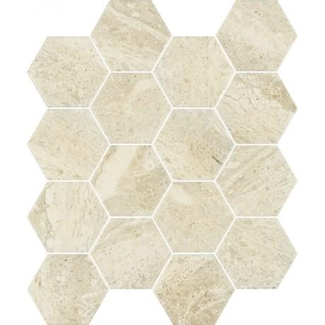 Sunlight Stone Beige Mozaika Prasowana Hexagon 22x25,5 GAT.I