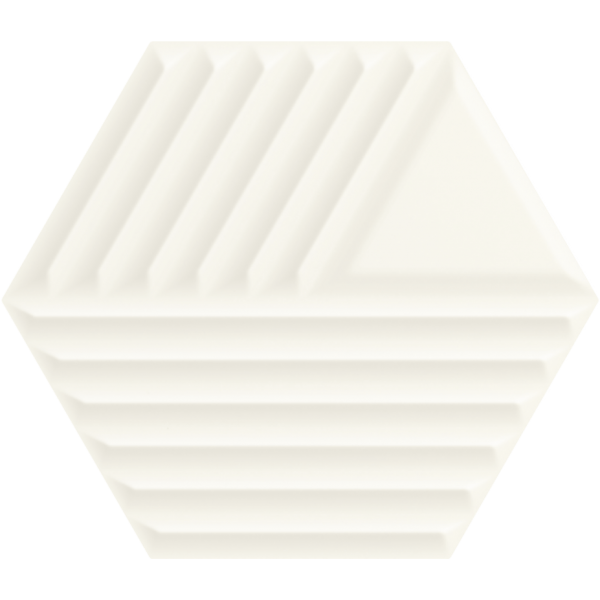 Woodskin Bianco Heksagon Struktura C Ściana 19,8x17,1 GAT.I