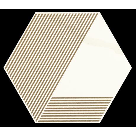 Calacatta Hexagon Mat. A 17.1x19.8 GAT.I