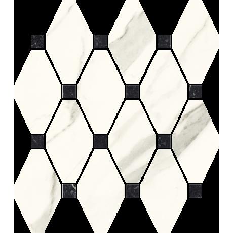 Calacatta Mozaika Cięta Mix Poler 23.6x25.2 GAT.I