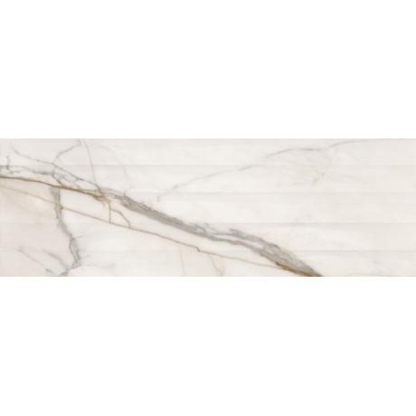 COSIMA WHITE STRUCTURE SATIN 39,8X119,8 G1
