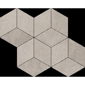 Pure City Grys Mozaika Prasowana Romb Hexagon  29.8x89.8 GAT.I