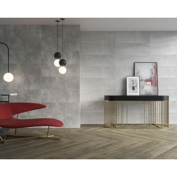 Industrial Chic Grys Ściana Rekt. Carpet Dekor 29.8x89.8 GAT.I