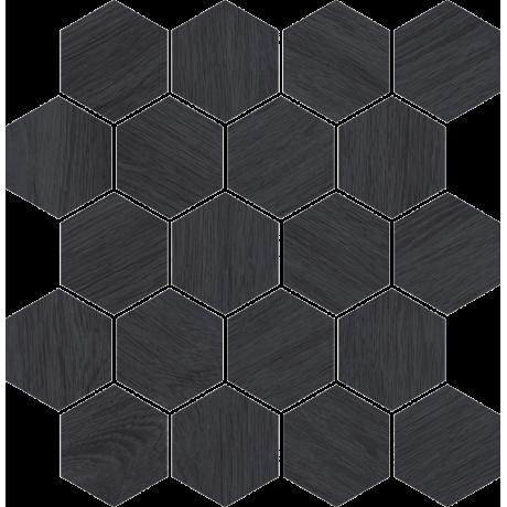 Taiga Grafit Wood Mozaika Cięta 25.8x28 GAT.I