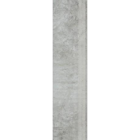 Scratch Grys Stopnica Prosta Nacinana Mat. 29.8x119.8 GAT.I