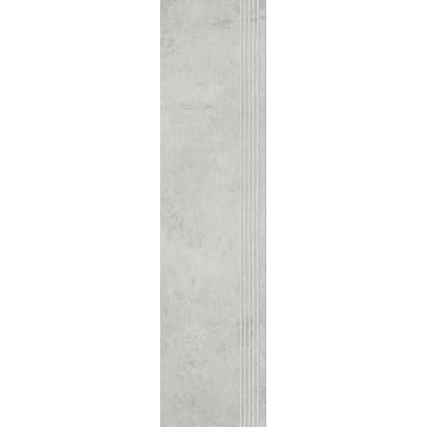 Scratch Bianco Stopnica Prosta Nacinana Półpoler 29.8x119.8 GAT.I