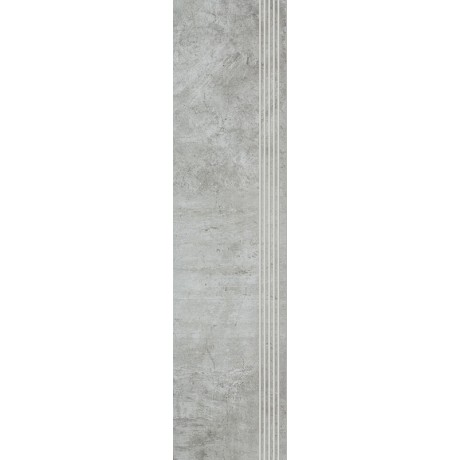 Scratch Grys Stopnica Prosta Nacinana Półpoler 29.8x119.8 GAT.I