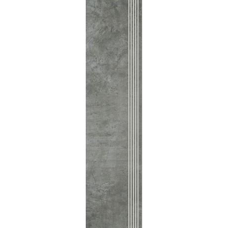 Scratch Nero Stopnica Prosta Nacinana Półpoler 29.8x119.8 GAT.I