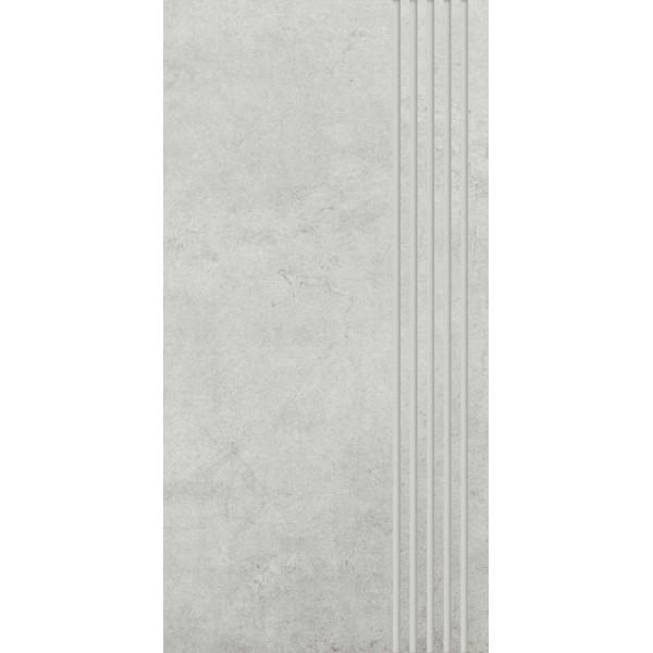 Scratch Bianco Stopnica Prosta Nacinana Półpoler 29.8x59.8 GAT.I