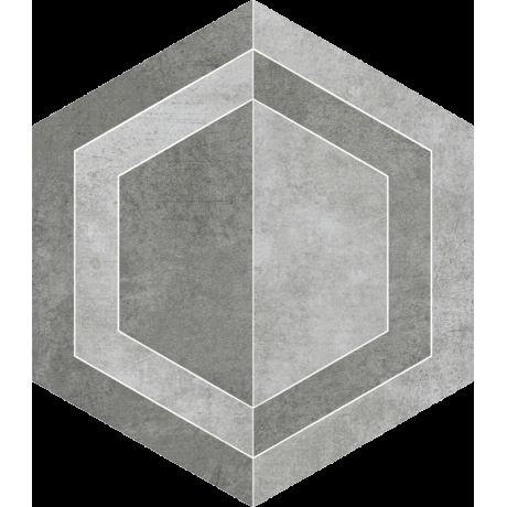 Scratch Grys Heksagon C Mat. 26x29.8 GAT.I