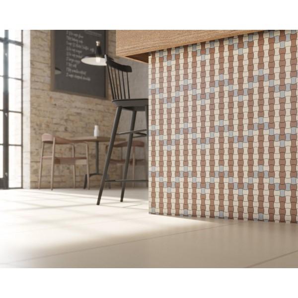 Modernizm Brown Mozaika Prasowana K.3,6X4,4  30.9x30.9GAT.I