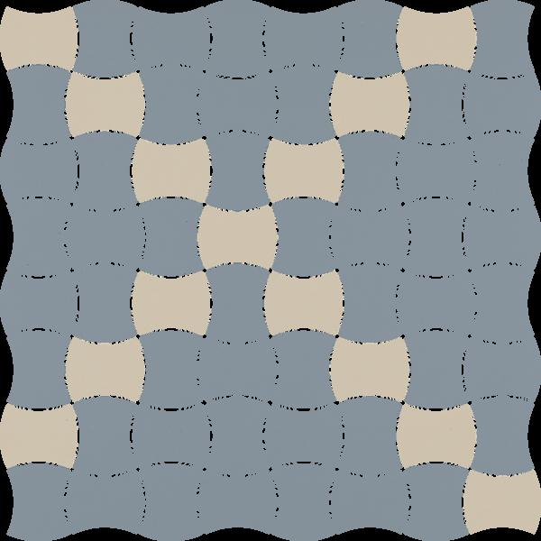 Modernizm Blue Mozaika Prasowana K.3,6X4,4 Mix 30.9x30.9GAT.I