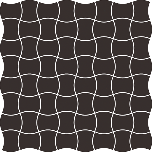 Modernizm Nero Mozaika Prasowana K.3,6X4,4 30.9x30.9GAT.I