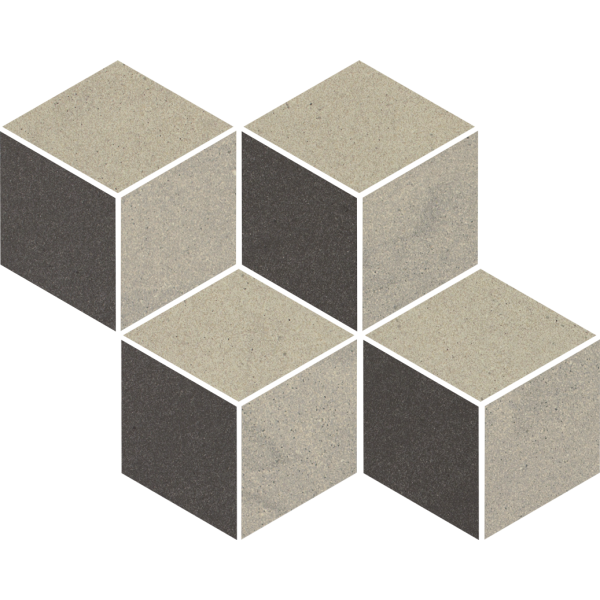 Rockstone Antracite Mozaika Cięta Mix 20.4x23.8 GAT.I